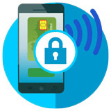 Secure NFC transactions icon