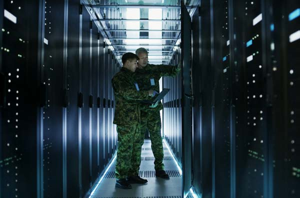 Soldiers in data center